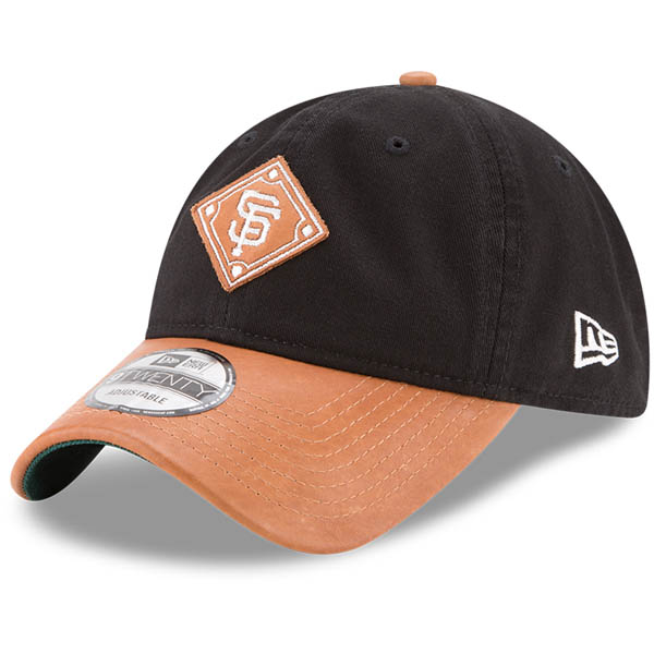 お取り寄せ MLB ジャイアンツ Wilson コラボレーション 9TWENTY アジャスタブル キャップ/帽子 ニューエラ/New Era ブラック/ナチュラル