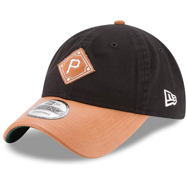 お取り寄せ MLB パイレーツ Wilson コラボレーション 9TWENTY アジャスタブル キャップ/帽子 ニューエラ/New Era ブラック/ナチュラル