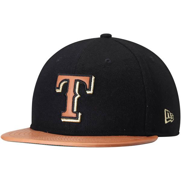 お取り寄せ MLB レンジャーズ Wilson コラボレーション 59FIFTY フィッテッド キャップ/帽子 ニューエラ/New Era ブラック/ナチュラル