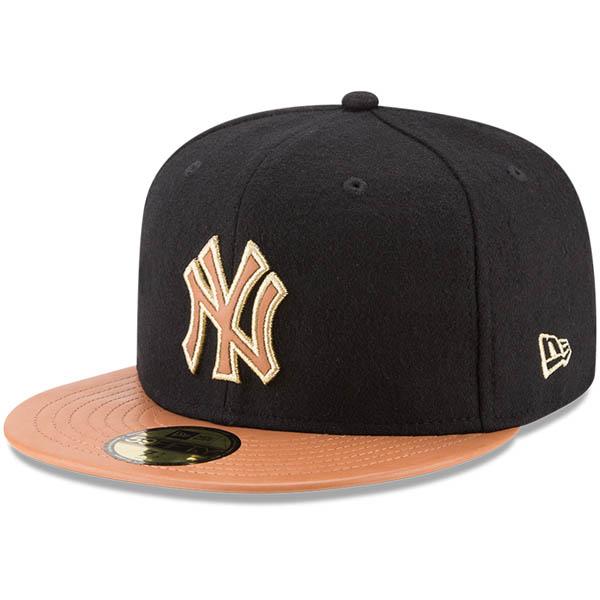 お取り寄せ MLB ヤンキース Wilson コラボレーション 59FIFTY フィッテッド キャップ/帽子 ニューエラ/New Era ブラック/ナチュラル