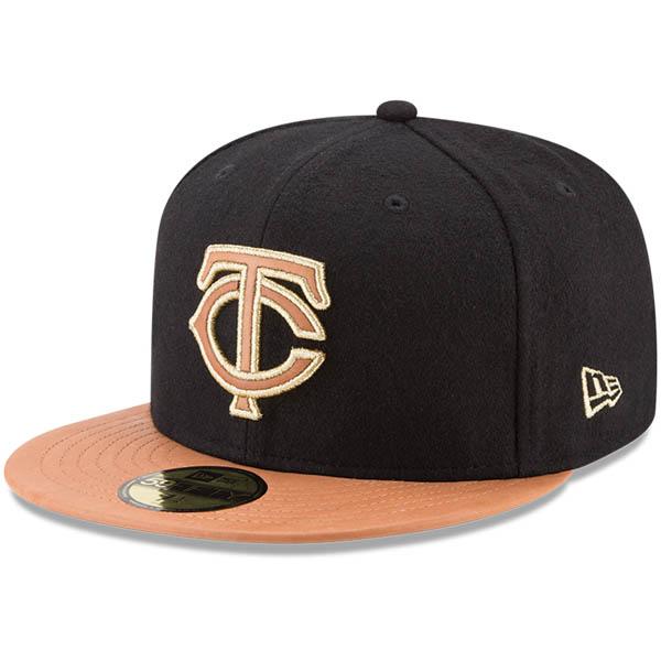 お取り寄せ MLB ツインズ Wilson コラボレーション 59FIFTY フィッテッド キャップ/帽子 ニューエラ/New Era ブラック/ナチュラル