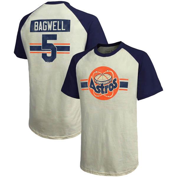 お取り寄せ MLB アストロズ ジェフ・バグウェル クーパーズタウン ハードヒット ネーム&ナンバー Tシャツ マジェスティック/Majestic