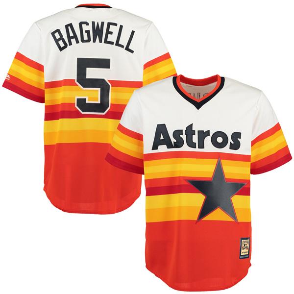 お取り寄せ MLB アストロズ ジェフ・バグウェル クールベース クーパーズタウン ユニフォーム マジェスティック/Majestic オレンジ