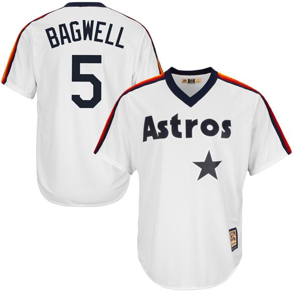 お取り寄せ MLB アストロズ ジェフ・バグウェル クールベース クーパーズタウン ユニフォーム マジェスティック/Majestic ホワイト