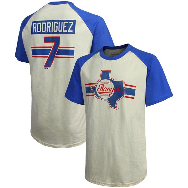 お取り寄せ MLB レンジャーズ イバン・ロドリゲス クーパーズタウン ハードヒット ネーム&ナンバー Tシャツ マジェスティック/Majestic