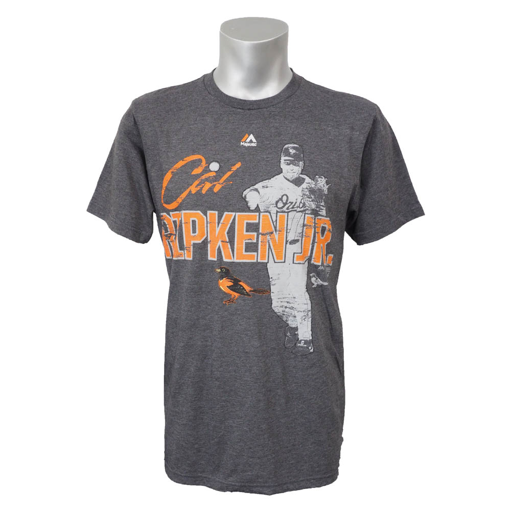 MLB オリオールズ カル・リプケン クーパーズタウン エモーション Tシャツ マジェスティック/Majestic チャコール レアアイテム