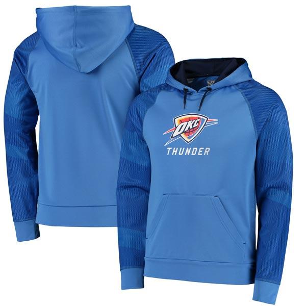 お取り寄せ NBA サンダー アーマー II サーマベース ラグラン パーカー マジェスティック/Majestic ブルー
