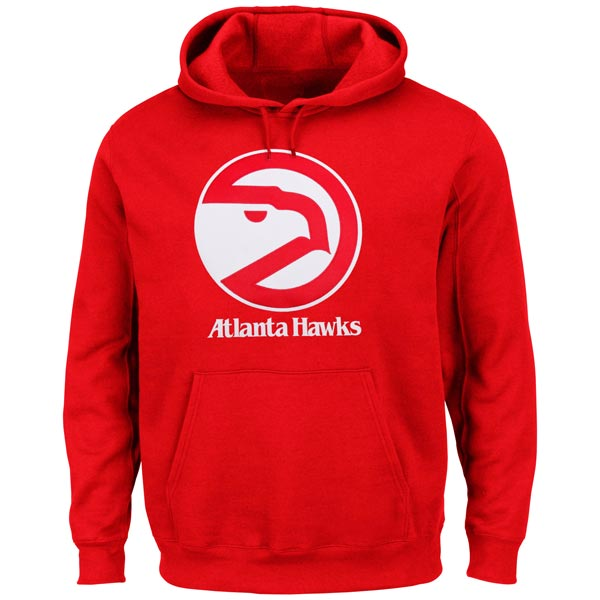 お取り寄せ NBA ホークス ハードウッドクラシック テック パッチ パーカー マジェスティック/Majestic レッド