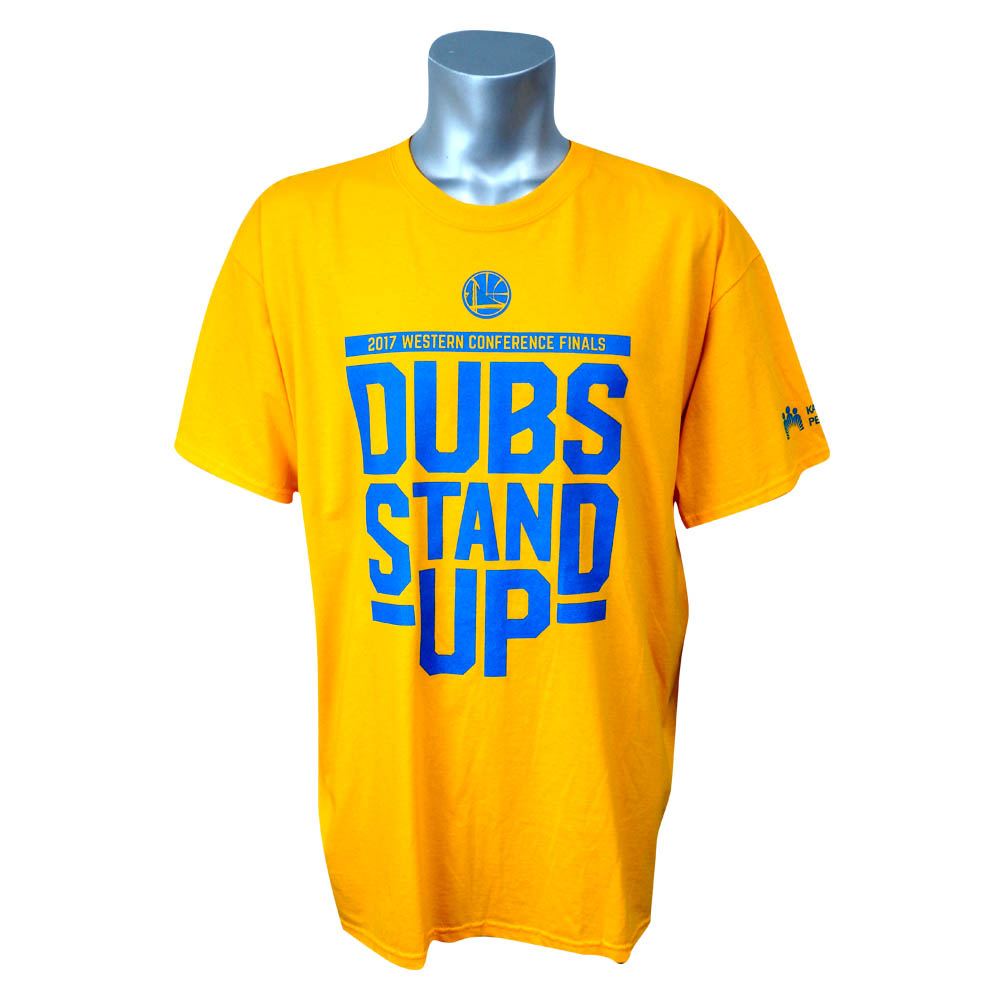 NBA ウォリアーズ 2017 ウェスタン カンファレンス DUBS STAND UP Tシャツ ZOOM イエロー レアアイテム レアアイテム レアアイテム