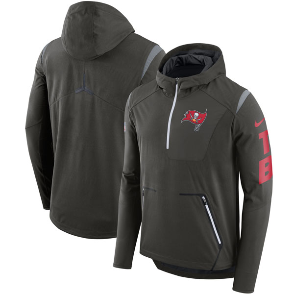 NFL バッカニアーズ サイドライン アルファ フライ パフォーマンス ハーフジップ ジャケット ナイキ/Nike ピューター