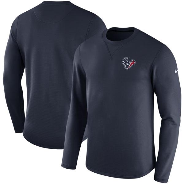 NFL テキサンズ サイドライン モダン ロングスリーブ スウェット ナイキ/Nike ネイビー
