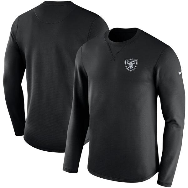 NFL レイダース サイドライン モダン ロングスリーブ スウェット ナイキ/Nike ブラック