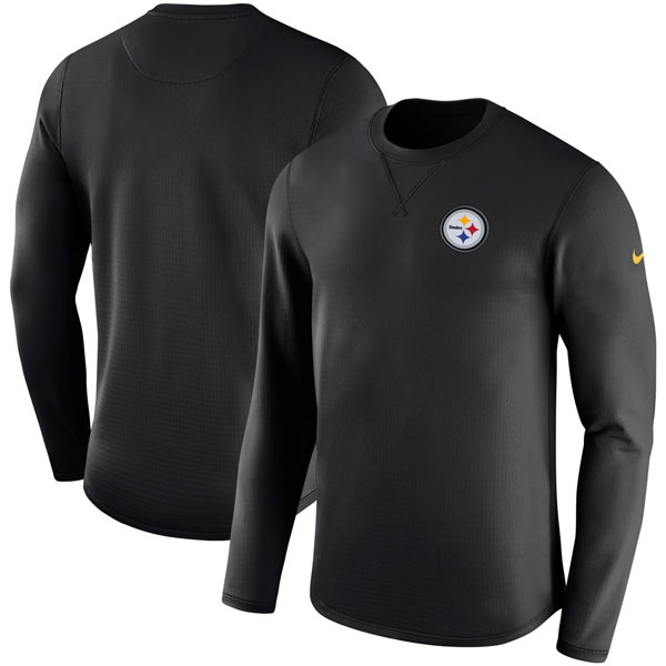 お取り寄せ NFL スティーラーズ サイドライン モダン ロングスリーブ スウェット ナイキ/Nike ブラック
