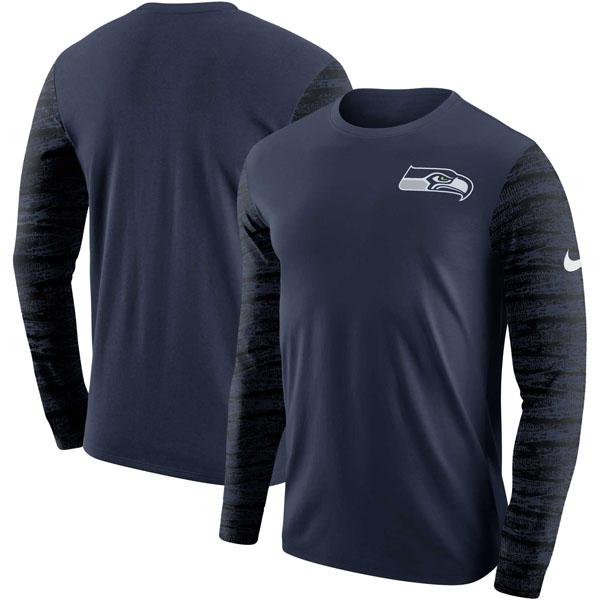 お取り寄せ NFL シーホークス エンザイム ロングスリーブ Tシャツ ナイキ/Nike カレッジネイビー