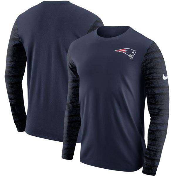 お取り寄せ NFL ペイトリオッツ エンザイム ロングスリーブ Tシャツ ナイキ/Nike ネイビー