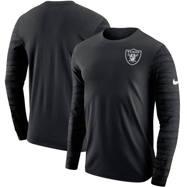 お取り寄せ NFL レイダース エンザイム ロングスリーブ Tシャツ ナイキ/Nike ブラック