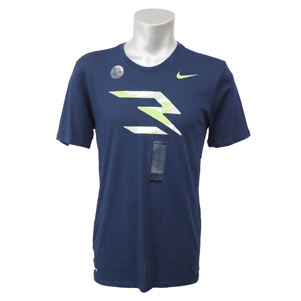 RW3 ラッセル・ウィルソン DangeRuss Dri-Fit Tシャツ ナイキ/Nike College Navy/Action Green 921434-451 レアアイテム【1910価格変更】