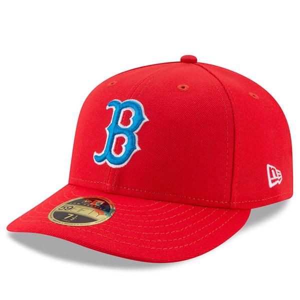 お取り寄せ MLB レッドソックス 2017 プレーヤーズ ウィークエンド ロープロファイル 59FIFTY キャップ/帽子 ニューエラ/New Era レッド