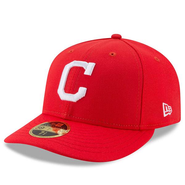 お取り寄せ MLB インディアンス 2017 プレーヤーズ ウィークエンド ロープロファイル 59FIFTY キャップ/帽子 ニューエラ/New Era レッド