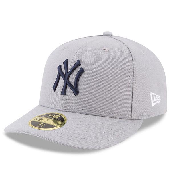 お取り寄せ MLB ヤンキース 2017 プレーヤーズ ウィークエンド ロープロファイル 59FIFTY キャップ/帽子 ニューエラ/New Era グレー