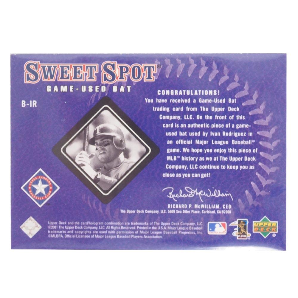 MLB レンジャーズ イバン・ロドリゲス 2001 ゲームユーズド バット カード アッパーデック Upper Deck レアアNwmn08