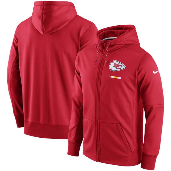 NFL チーフス サイドライン ロゴ パフォーマンス フルジップ パーカー ナイキ/Nike レッド