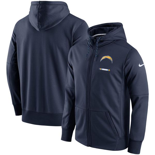 NFL チャージャーズ サイドライン ロゴ パフォーマンス フルジップ パーカー ナイキ/Nike ネイビー