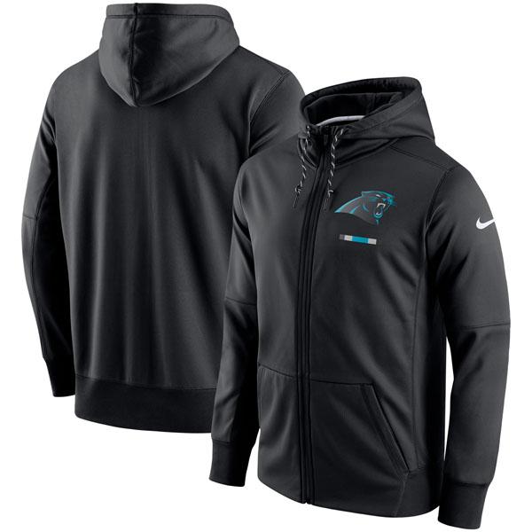 NFL パンサーズ サイドライン ロゴ パフォーマンス フルジップ パーカー ナイキ/Nike ブラック