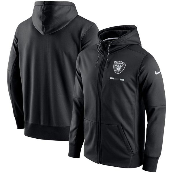 NFL レイダース サイドライン ロゴ パフォーマンス フルジップ パーカー ナイキ/Nike ブラック