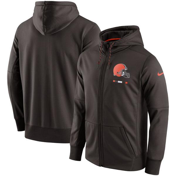 お取り寄せ NFL ブラウンズ サイドライン ロゴ パフォーマンス フルジップ パーカー ナイキ/Nike ブラウン