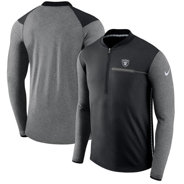 NFL レイダース サイドライン コーチズ パフォーマンス ハーフジップ ジャケット ナイキ/Nike ブラック