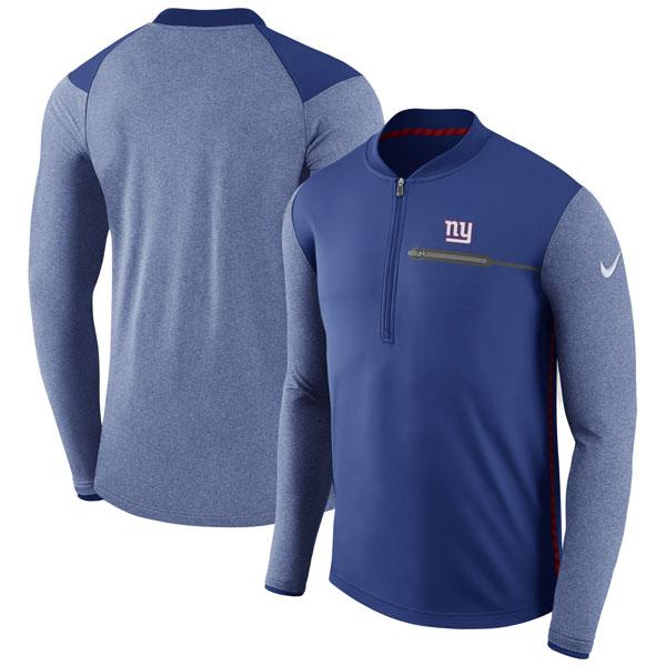 NFL ジャイアンツ サイドライン コーチズ パフォーマンス ハーフジップ ジャケット ナイキ/Nike ロイヤル