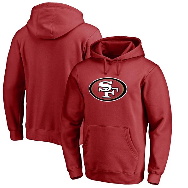 NFL 49ers プライマリー ロゴ パーカー スカーレット