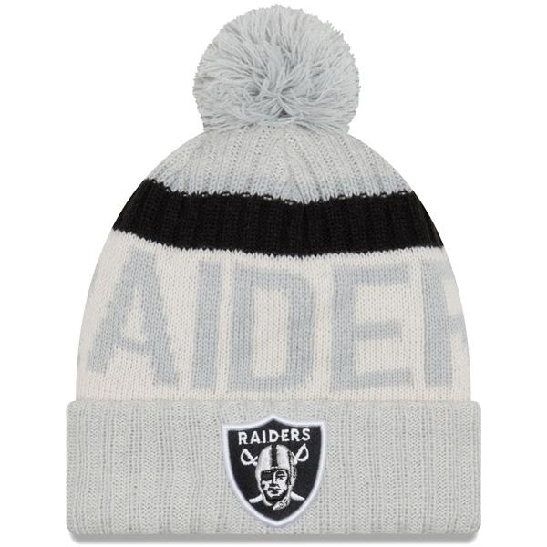 NFL レイダース 2017 サイドライン リバース スポーツ ニットキャップ/帽子 ニューエラ/New Era シルバー