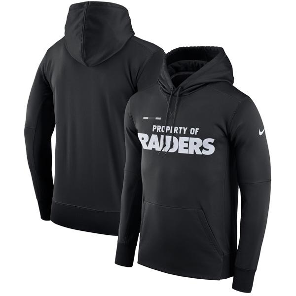 お取り寄せ NFL レイダース サイドライン プロパティ・オブ・パフォーマンス パーカー ナイキ/Nike ブラック