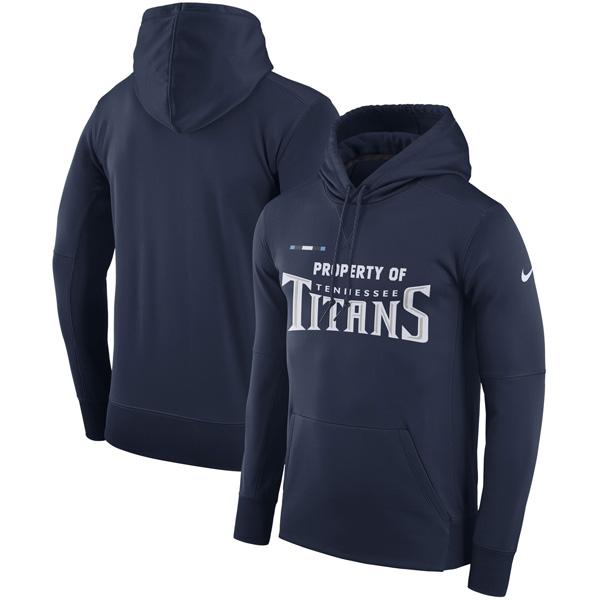 お取り寄せ NFL タイタンズ サイドライン プロパティ・オブ・パフォーマンス パーカー ナイキ/Nike ネイビー