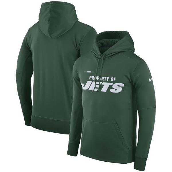 お取り寄せ NFL ジェッツ サイドライン プロパティ・オブ・パフォーマンス パーカー ナイキ/Nike グリーン