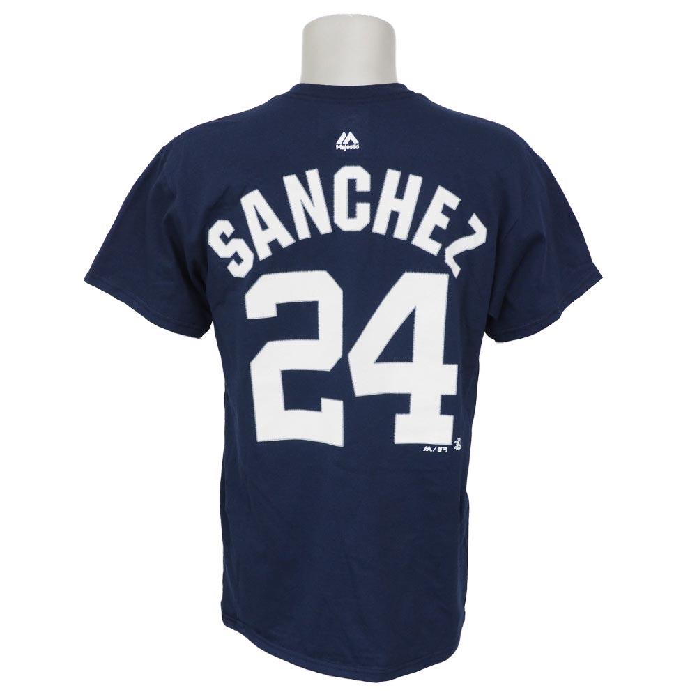 MLB ヤンキース ゲイリー・サンチェス プレイヤー Tシャツ マジェスティック/Majestic ネイビー【1910価格変更】【1112】