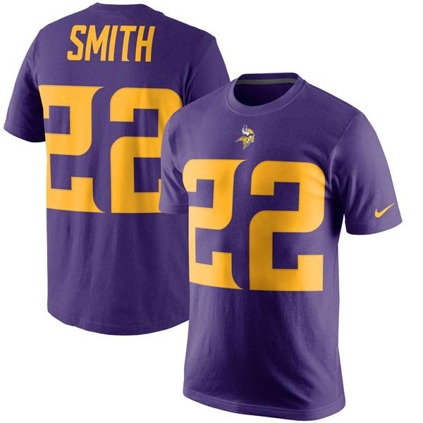 NFL バイキングス ハリソン・スミス カラーラッシュ プレーヤー プライド ネーム&ナンバー Tシャツ ナイキ/Nike パープル