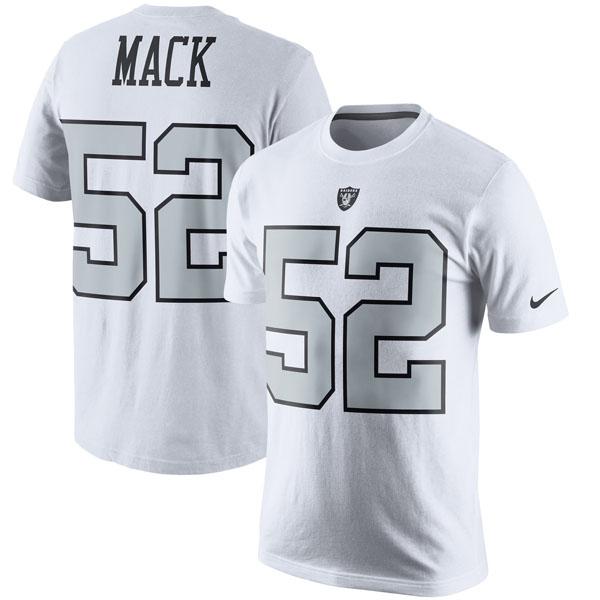 NFL レイダース カリル・マック カラーラッシュ プレーヤー プライド ネーム&ナンバー Tシャツ ナイキ/Nike ホワイト