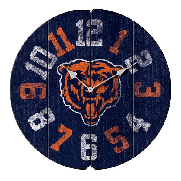 お取り寄せ NFL ベアーズ ヴィンテージ ラウンド ウォールクロック/壁掛け時計 ブルー