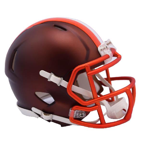 NFL ブラウンズ ブレイズ レボリューション スピード ミニ フットボール ヘルメット リデル/Riddell, カンナリチョウ 136b03a8