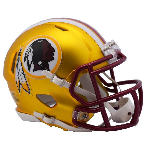 NFL レッドスキンズ ブレイズ レボリューション スピード ミニ フットボール ヘルメット リデル/Riddell