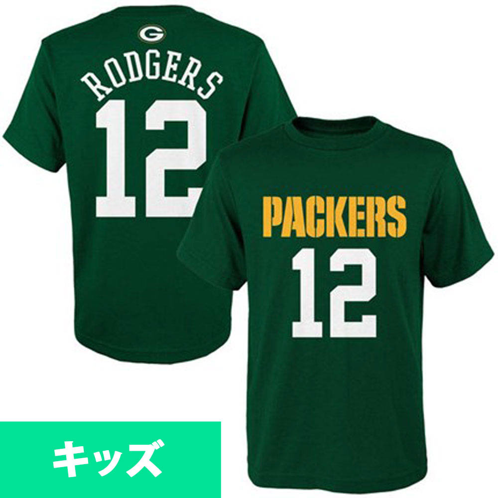 more photos bfdda 96ce1 NFL Packers Aaron Rodgers kids name & number T-shirt majestic /Majestic