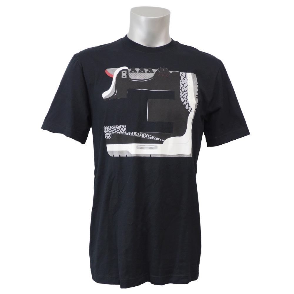 ジョーダン/JORDAN レトロ 3 ナンバーズ Tシャツ ブラック 619942-010 レアアイテム