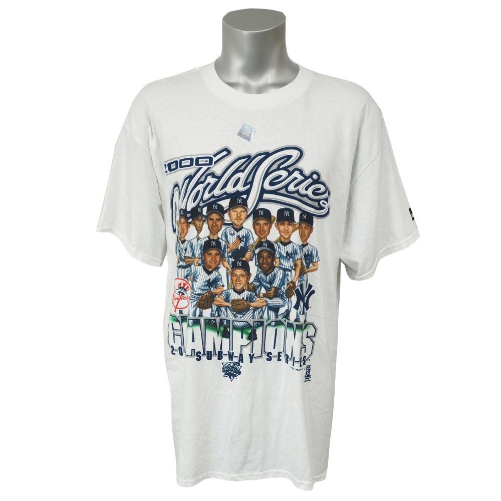 MLB ヤンキース 2000 ワールドチャンピオンズ サブウェイシリーズ カリカチュア Tシャツ プーマ/Puma ホワイト レアアイテム