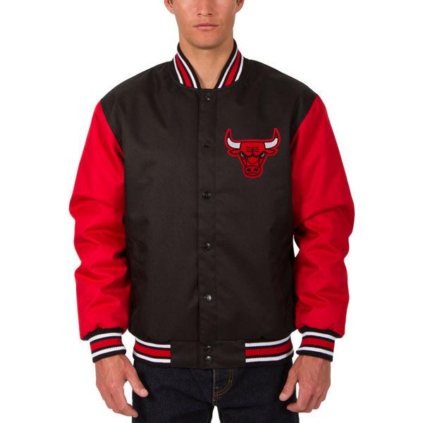 お取り寄せ NBA ブルズ メンズ ポリツイル ロゴ ジャケット JH デザイン/JH Design ブラック