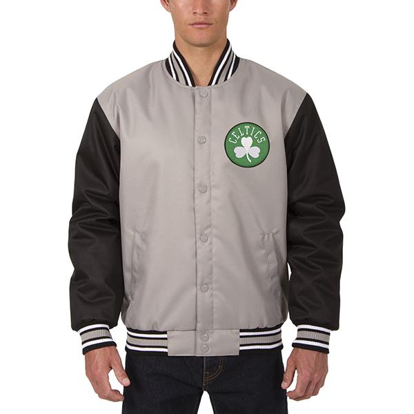 お取り寄せ NBA セルティックス メンズ ポリツイル ロゴ ジャケット JH デザイン/JH Design グレー