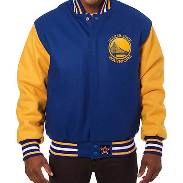 お取り寄せ NBA ウォリアーズ メンズ ドメスティック ツートーン ウール ジャケット JH デザイン/JH Design ロイヤル
