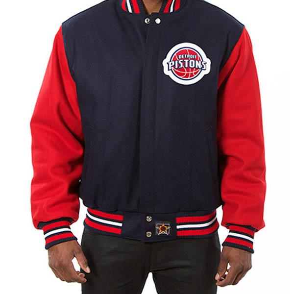 お取り寄せ NBA ピストンズ メンズ ドメスティック ツートーン ウール ジャケット JH デザイン/JH Design ネイビー